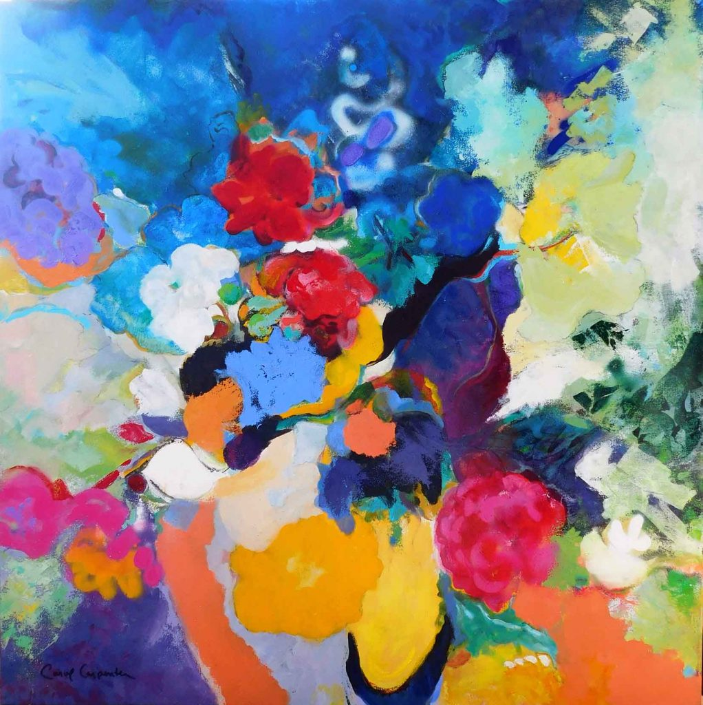 Carol Carpenter - Celebration, Acrylic on canvas, 36x36 inches - 91x91 cm