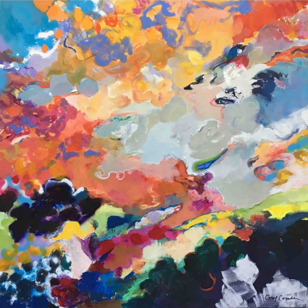 Carol Carpenter - Free Spirit, Acrylic on canvas, 36x36 inches - 91x91 cm