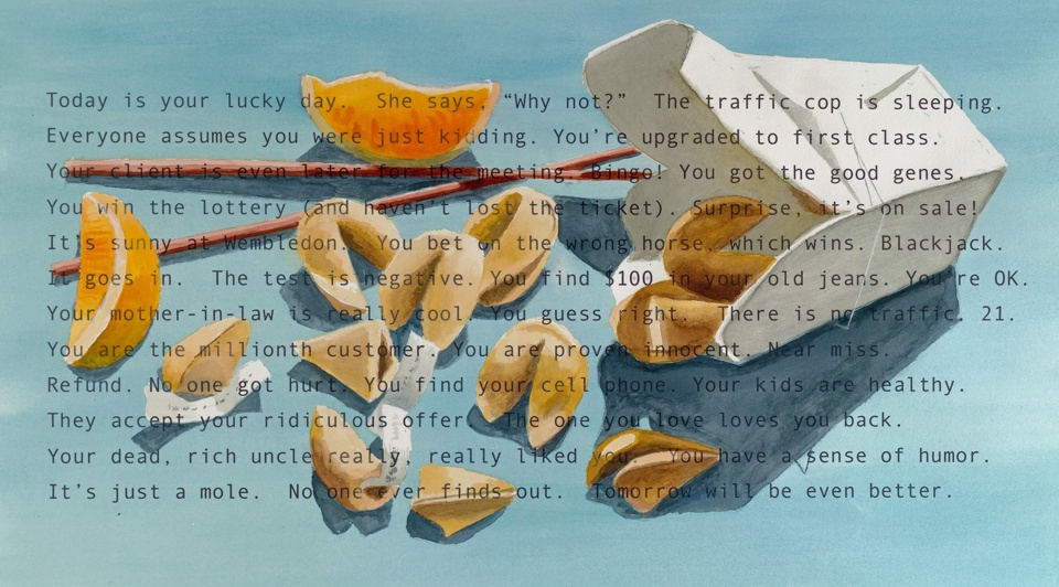 John Nieman - Good Fortunes, Mixed media, 22x29 inches - 56x73 cm